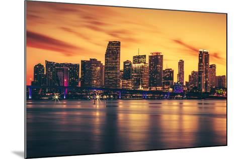 City of Miami at Sunset-prochasson-Mounted Photographic Print