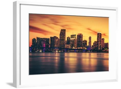 City of Miami at Sunset-prochasson-Framed Art Print