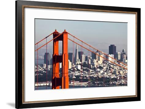 San Francisco with the Golden Gate Bridge-kropic-Framed Art Print