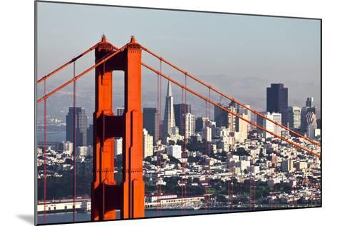 San Francisco with the Golden Gate Bridge-kropic-Mounted Photographic Print