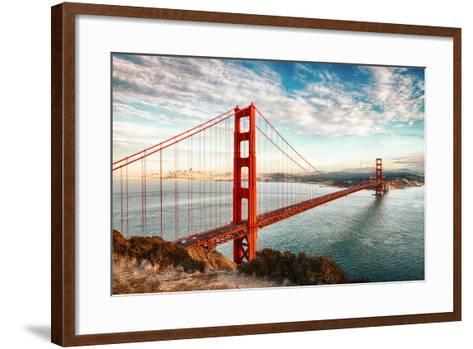 Golden Gate Bridge, San Francisco-vent du sud-Framed Art Print