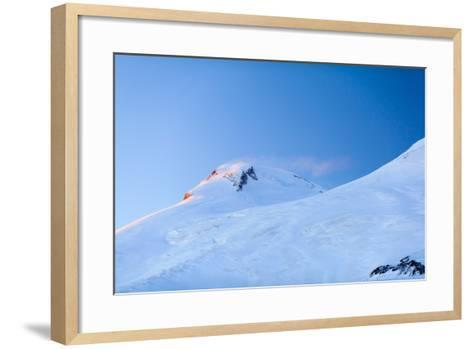 Mountains Beautiful Elbrus Landscape Russia-blas-Framed Art Print
