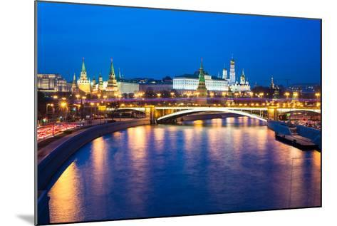 Dusk View of the Moscow Kremlin-Elena Ermakova-Mounted Photographic Print