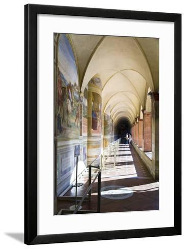Monte Oliveto Abbey in Tuscany-lachris77-Framed Art Print