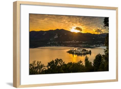 San Giulio Island Sunset Hdr Version-Robik70-Framed Art Print