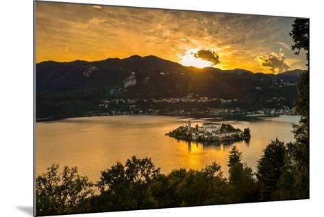 San Giulio Island Sunset Hdr Version-Robik70-Mounted Photographic Print