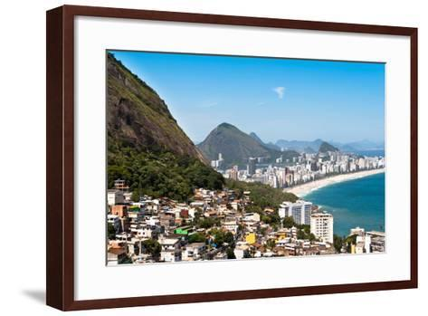 Rio De Janeiro Favela and Ipanema Beach View-dabldy-Framed Art Print