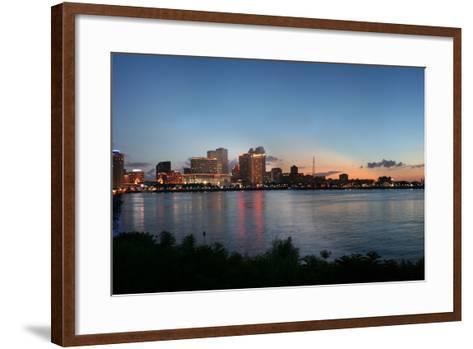 New Orleans Cityscape at Sunset-jpegisclair-Framed Art Print