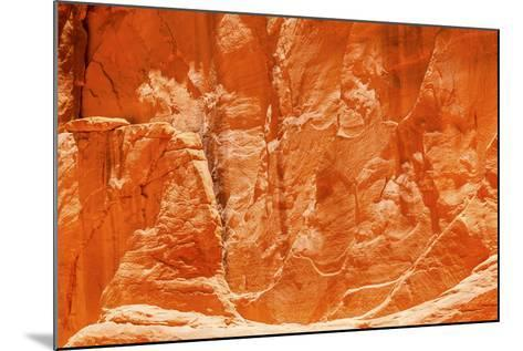 Orange Yellow Sandstone Rock Canyon Abstract Sand Dune Arch Arches National Park Moab Utah-BILLPERRY-Mounted Photographic Print