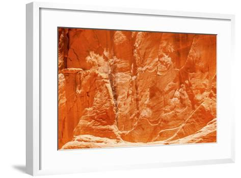 Orange Yellow Sandstone Rock Canyon Abstract Sand Dune Arch Arches National Park Moab Utah-BILLPERRY-Framed Art Print