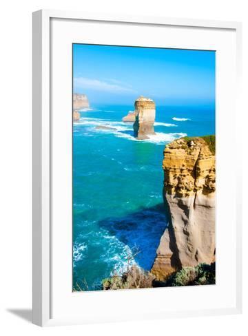 The Twelve Apostles by the Great Ocean Road in Victoria, Australia-StanciuC-Framed Art Print