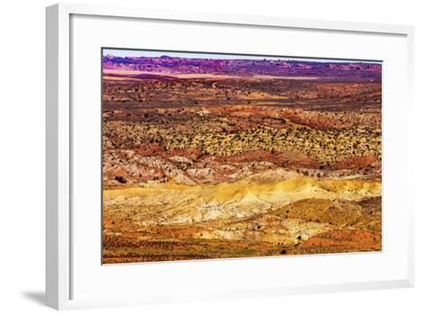 Painted Desert Yellow Grass Lands Orange Sandstone Red Fiery Furnace Arches National Park Moab Utah-BILLPERRY-Framed Art Print