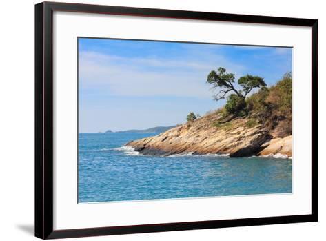 Beach and Tropical Sea-Ronnachai-Framed Art Print