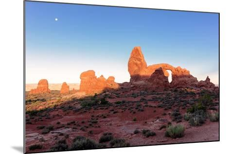 Landscape with Turret Arch in Arches National Park.-lucky-photographer-Mounted Photographic Print