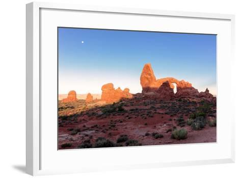 Landscape with Turret Arch in Arches National Park.-lucky-photographer-Framed Art Print