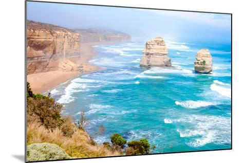 The Twelve Apostles by the Great Ocean Road in Victoria, Australia-StanciuC-Mounted Photographic Print