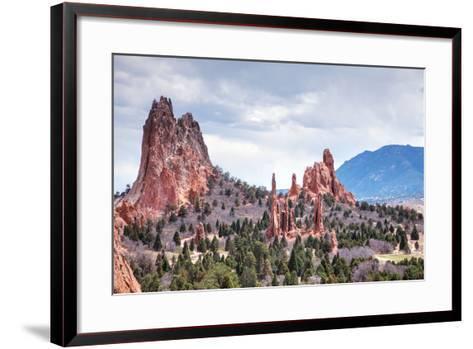 Garden of the Gods in Colorado Springs-photo ua-Framed Art Print