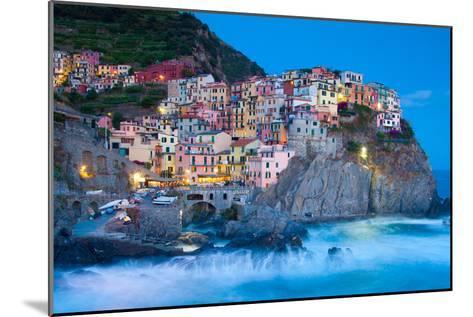 Manarola Fisherman Village in Cinque Terre, Italy-kasto-Mounted Photographic Print