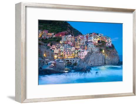 Manarola Fisherman Village in Cinque Terre, Italy-kasto-Framed Art Print