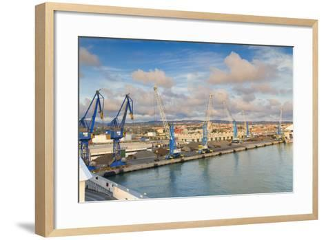 Port of Civitavecchia-lachris77-Framed Art Print
