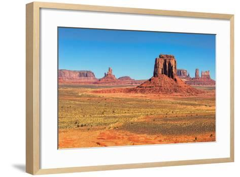 Monument Valley West and East Mittens Butte Utah National Park-lucky-photographer-Framed Art Print