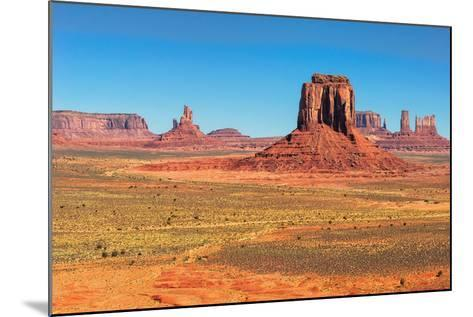Monument Valley West and East Mittens Butte Utah National Park-lucky-photographer-Mounted Photographic Print