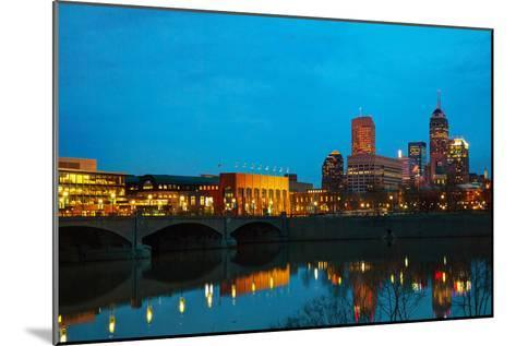 Downtown of Indianapolis-photo ua-Mounted Photographic Print