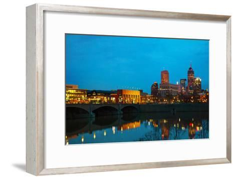 Downtown of Indianapolis-photo ua-Framed Art Print