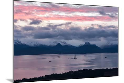 Jackup Rig in Kachemak Bay-Latitude 59 LLP-Mounted Photographic Print