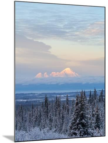 Mt Iliamna in Winter at Dawn-Latitude 59 LLP-Mounted Photographic Print