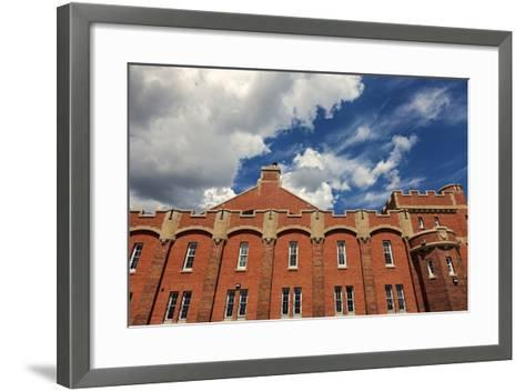 Mewata Armouries in Downtown of Calgary-benkrut-Framed Art Print