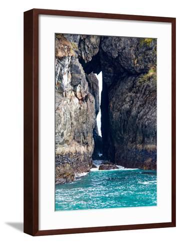 Rock Arch at Sea's Edge-Latitude 59 LLP-Framed Art Print