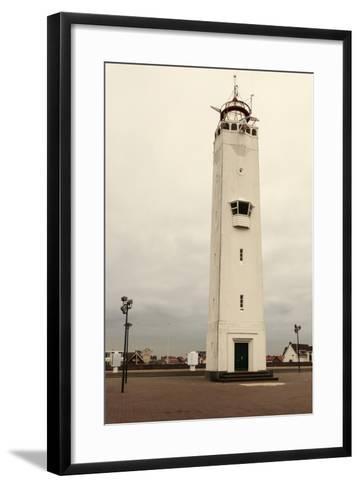 Noordwijk Lighthouse-benkrut-Framed Art Print