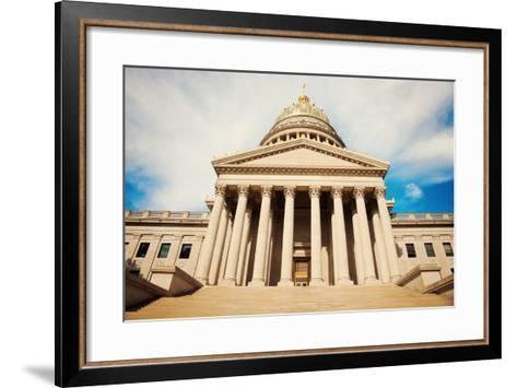 Charleston - State Capitol Building-benkrut-Framed Art Print