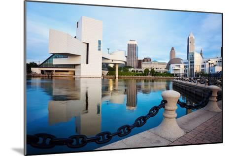 Cleveland Seen Morning Time-benkrut-Mounted Photographic Print