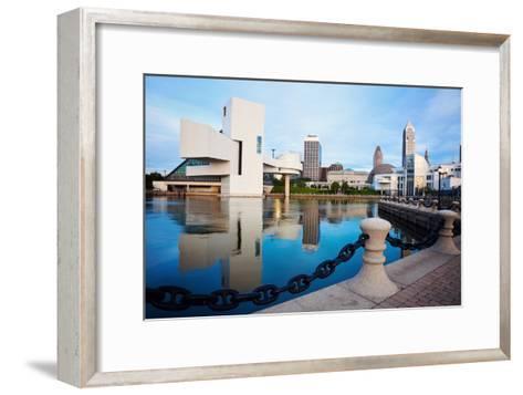 Cleveland Seen Morning Time-benkrut-Framed Art Print