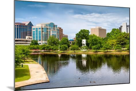 Cityscape Scene of Downtown Huntsville Alabama from Big Spring Park-Rob Hainer-Mounted Photographic Print