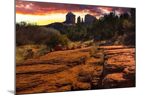 Sunset Image of Cathedral Rock.-diro-Mounted Photographic Print