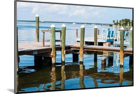 Ocean and Pier in Key Largo-MaryBethCharles-Mounted Photographic Print