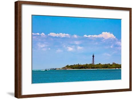Sanibel Lighthouse and Pier-KennethKeifer-Framed Art Print