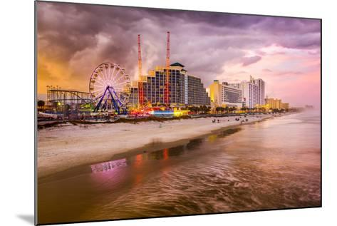 Daytona Beach, Florida, USA Beachfront Skyline.-SeanPavonePhoto-Mounted Photographic Print
