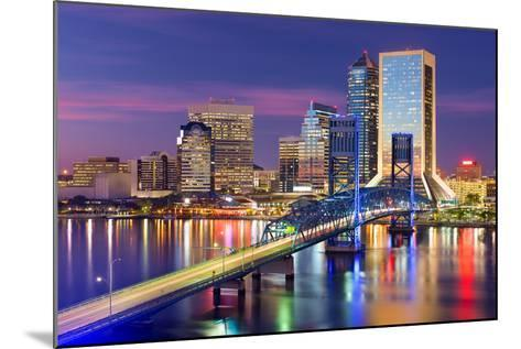 Jacksonville, Florida, USA Downtown City Skyline.-SeanPavonePhoto-Mounted Photographic Print