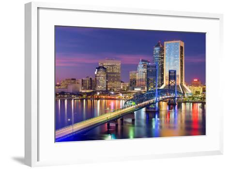 Jacksonville, Florida, USA Downtown City Skyline.-SeanPavonePhoto-Framed Art Print
