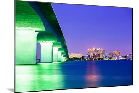 Sarasota, Florida, USA Downtown City Skyline.-SeanPavonePhoto-Mounted Photographic Print
