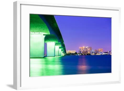 Sarasota, Florida, USA Downtown City Skyline.-SeanPavonePhoto-Framed Art Print