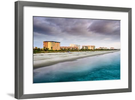 Cocoa Beach, Florida Beachfront Hotels and Resorts.-SeanPavonePhoto-Framed Art Print