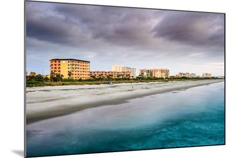 Cocoa Beach, Florida Beachfront Hotels and Resorts.-SeanPavonePhoto-Mounted Photographic Print