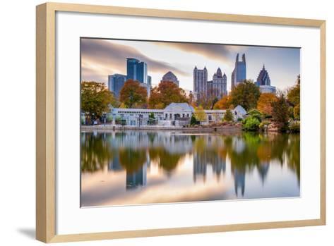Atlanta, Georgia, USA Autumn Skyline from Piedmont Park.-SeanPavonePhoto-Framed Art Print