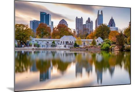 Atlanta, Georgia, USA Autumn Skyline from Piedmont Park.-SeanPavonePhoto-Mounted Photographic Print