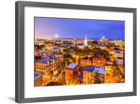 Savannah, Georgia, USA Skyline.-SeanPavonePhoto-Framed Art Print